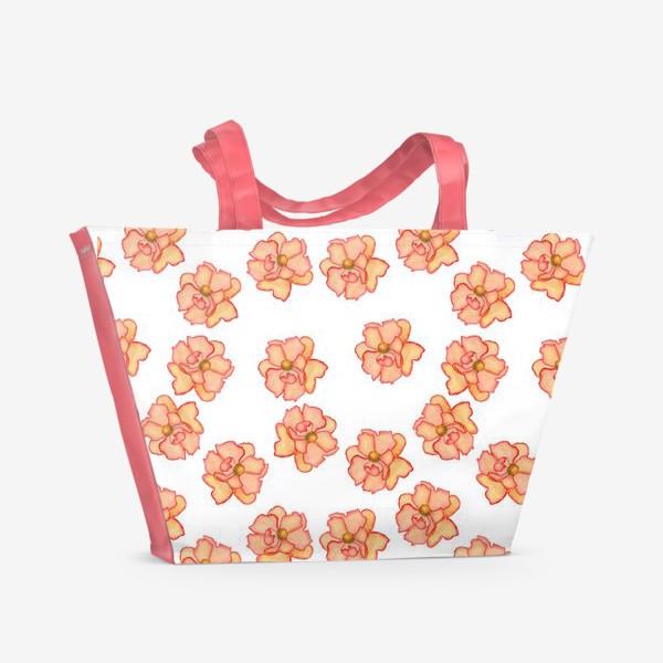 Пляжная сумка «Цветы лета»