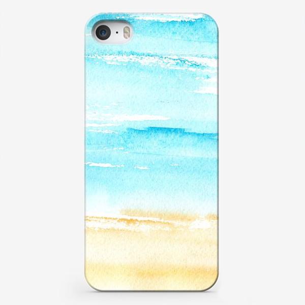 Чехол iPhone «Акварельный пляж»
