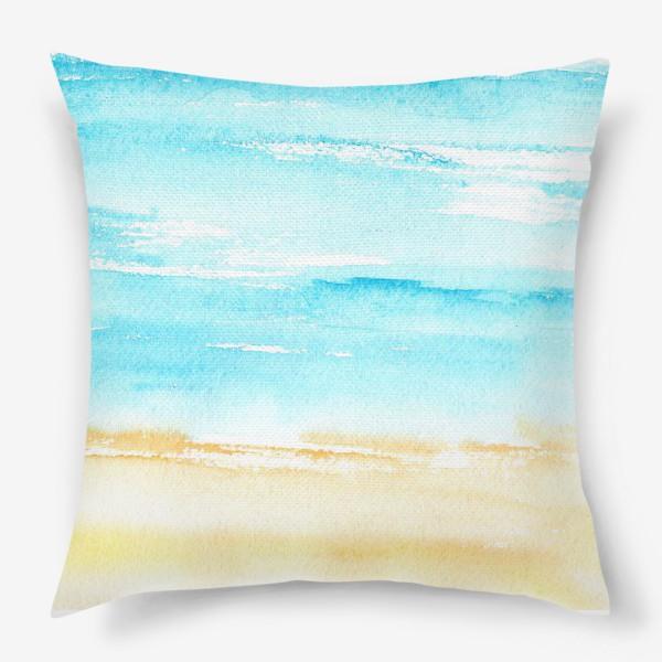 Подушка «Акварельный пляж»