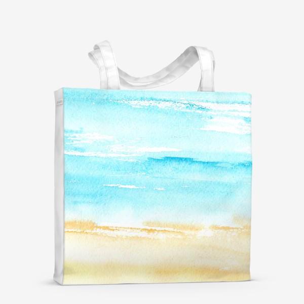 Сумка-шоппер «Акварельный пляж»