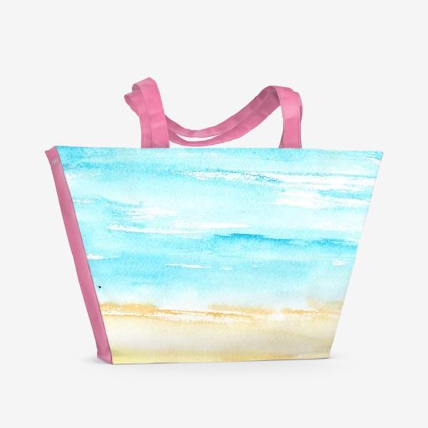 Пляжная сумка «Акварельный пляж»