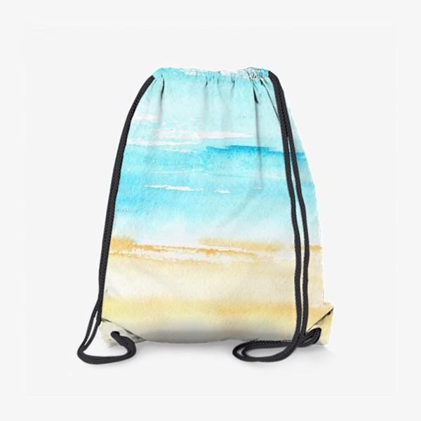 Рюкзак «Акварельный пляж»