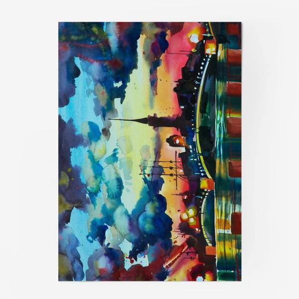Постер «Петропавловская крепость, акварель»