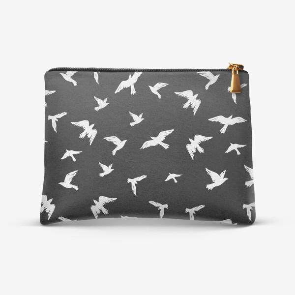 Косметичка «Птицы на чёрном»
