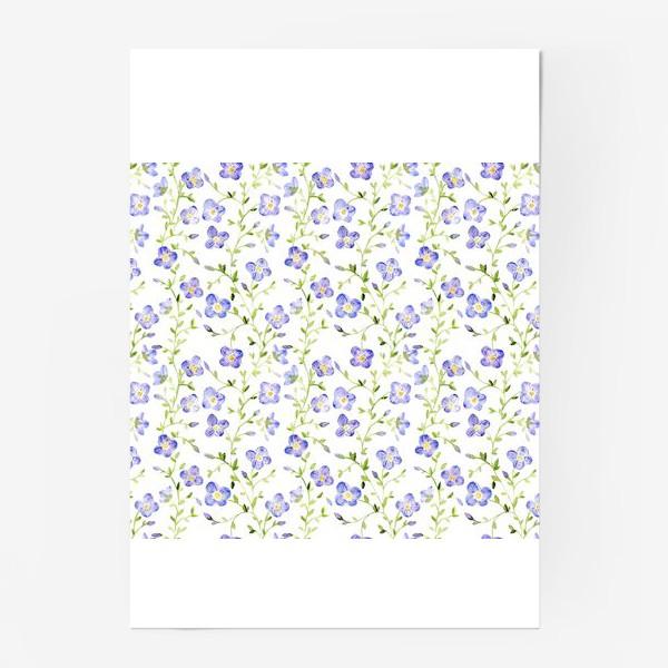 Постер «Паттерн Нежные цветы»