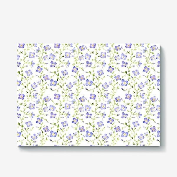 Холст «Паттерн Нежные цветы»