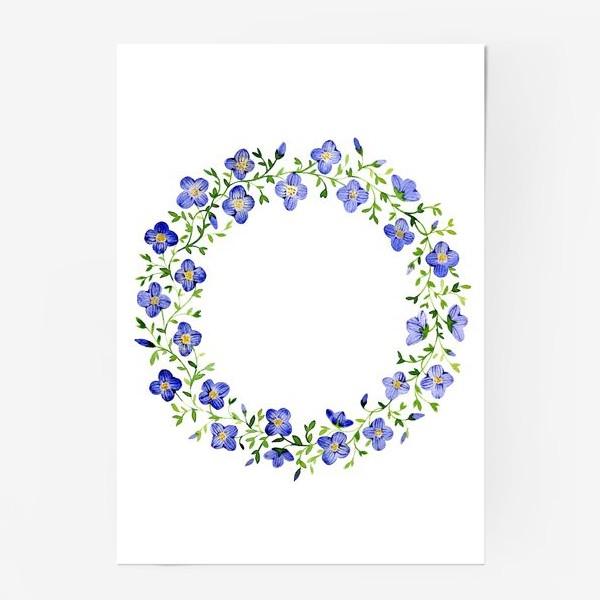 Постер «Венок из нежных цветов»