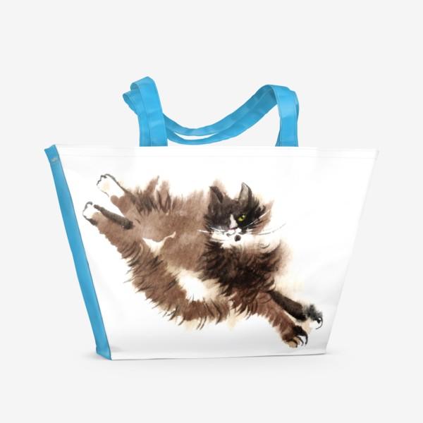 Пляжная сумка «Кошка Фяо»