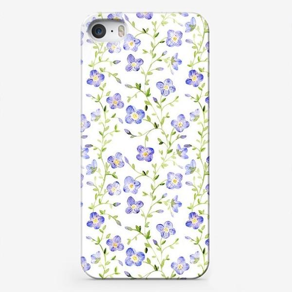 Чехол iPhone «Паттерн Нежные цветы»