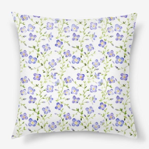 Подушка «Паттерн Нежные цветы»