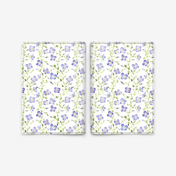 Обложка для паспорта «Паттерн Нежные цветы»
