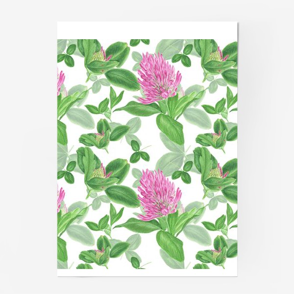 Постер «Цветы и листья клевера»