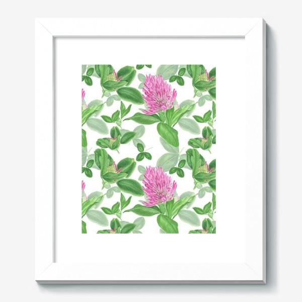 Картина «Цветы и листья клевера»