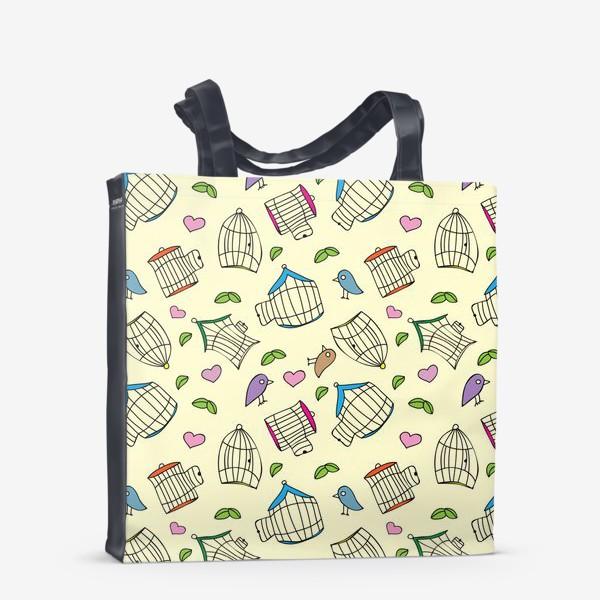 Сумка-шоппер «Любовь и птички»