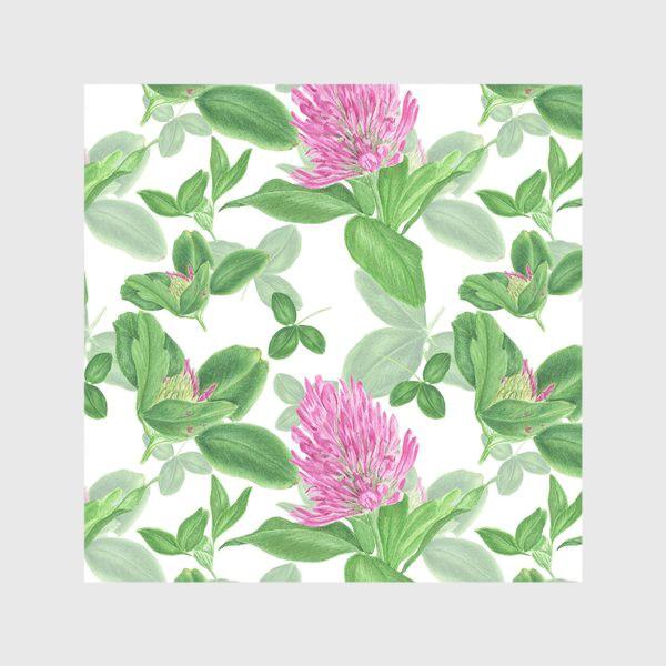 Скатерть «Цветы и листья клевера»