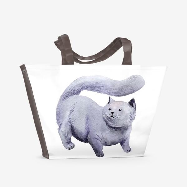 Пляжная сумка «Кот Прохор»