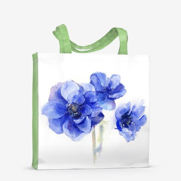 Сумка-шоппер «Синие цветы Анемоны»