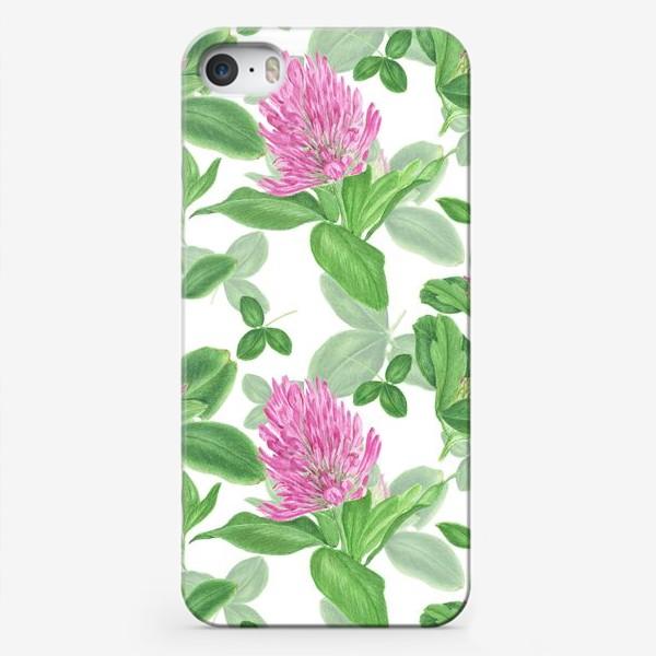 Чехол iPhone «Цветы и листья клевера»