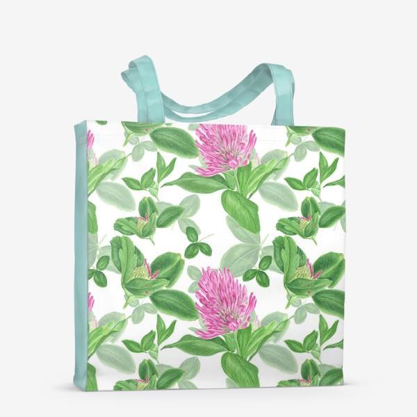 Сумка-шоппер «Цветы и листья клевера»