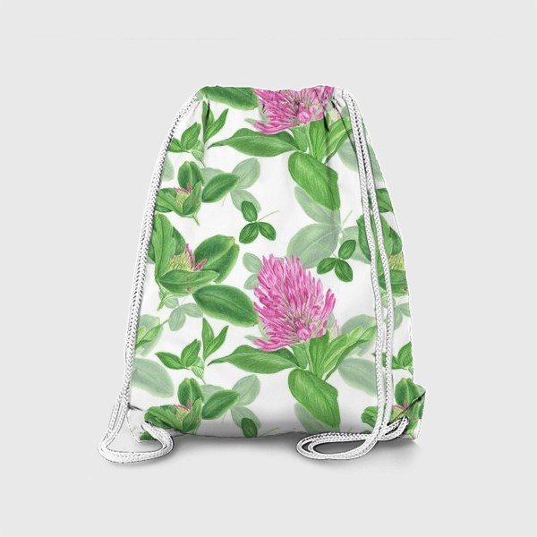 Рюкзак «Цветы и листья клевера»
