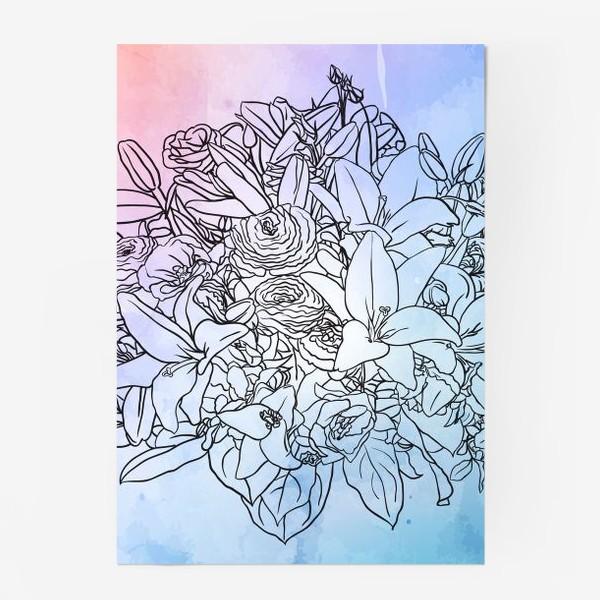 Постер «Букет с лилиями»