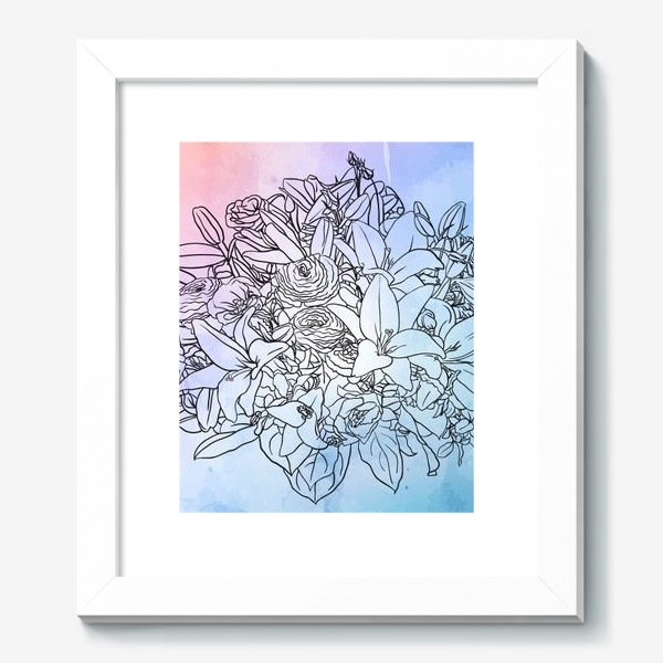 Картина «Букет с лилиями»