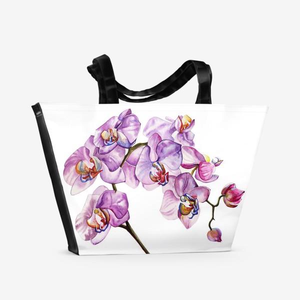 Пляжная сумка «орхидейка»