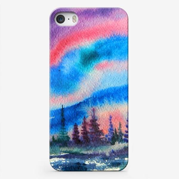Чехол iPhone «северное сияние»