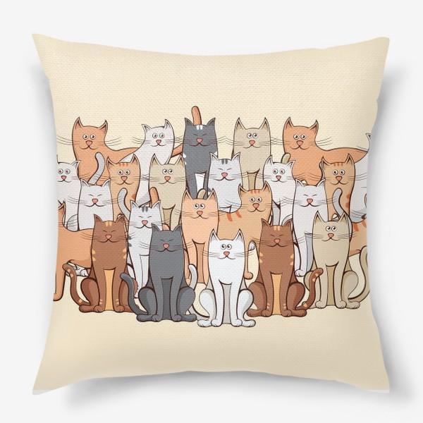 Подушка «Коты»