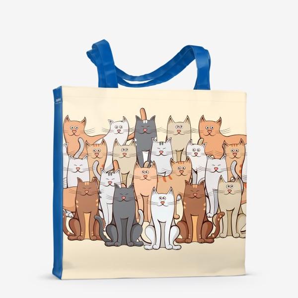 Сумка-шоппер «Коты»