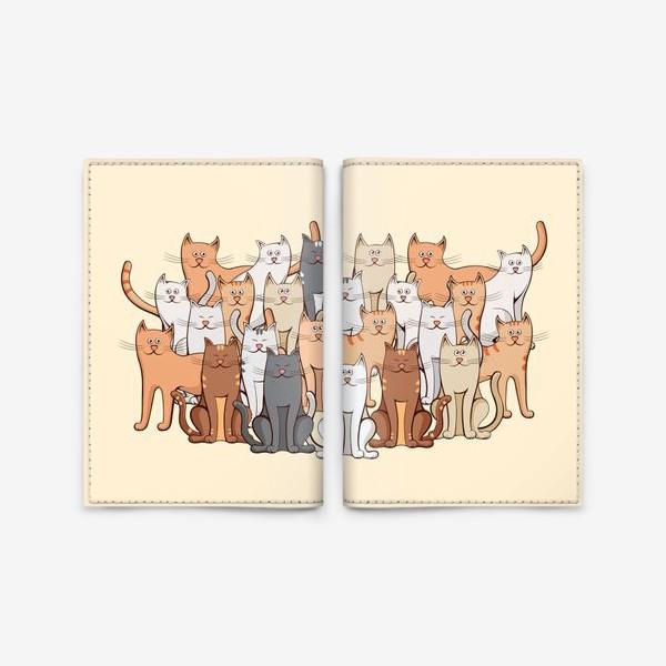 Обложка для паспорта «Коты»