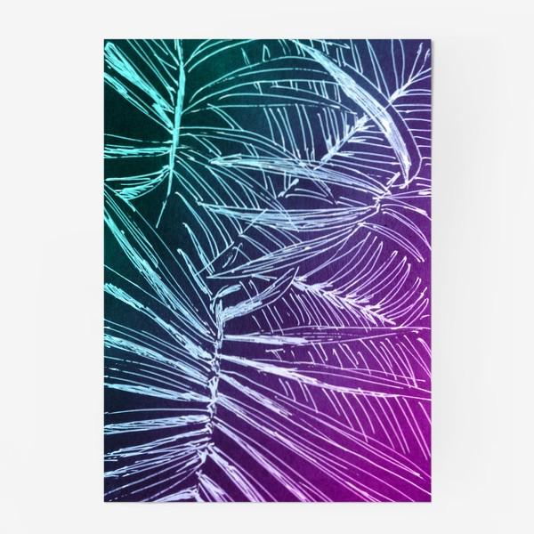 Постер «Пальмы. Мята-карамель»