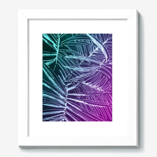 Картина «Пальмы. Мята-карамель»
