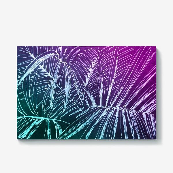 Холст «Пальмы. Мята-карамель»
