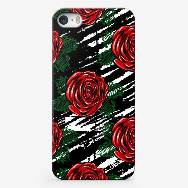 Чехол iPhone «Красные розы.»