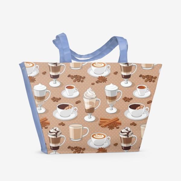 Пляжная сумка «Кофемания»