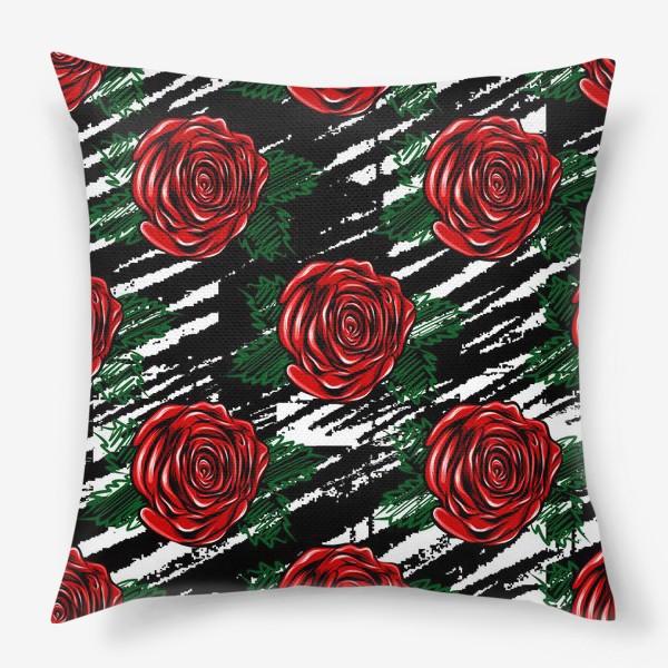 Подушка «Красные розы.»