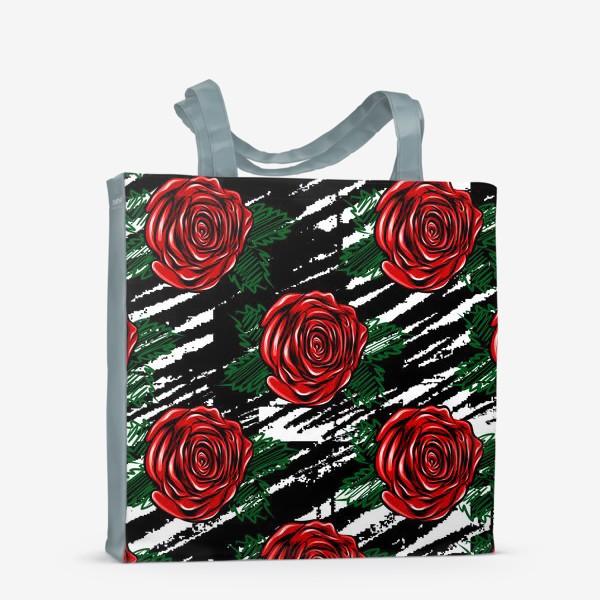 Сумка-шоппер «Красные розы.»