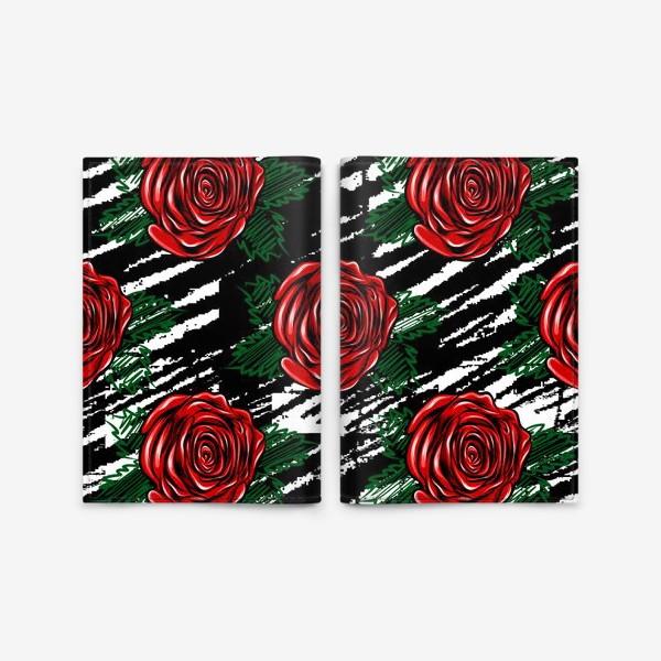 Обложка для паспорта «Красные розы.»