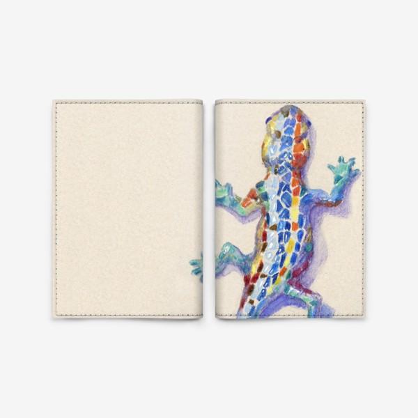 Обложка для паспорта «Мозаичная ящерица»