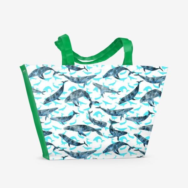 Пляжная сумка «Whales»