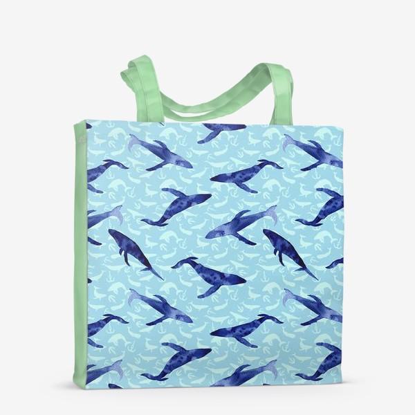 Сумка-шоппер «Blue whales»