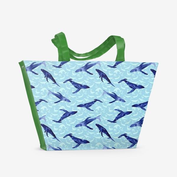 Пляжная сумка «Blue whales»