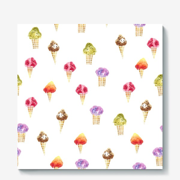 Холст «Мороженое Акварель»