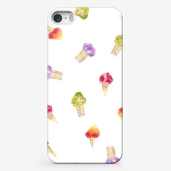 Чехол iPhone «Мороженое Акварель 2»