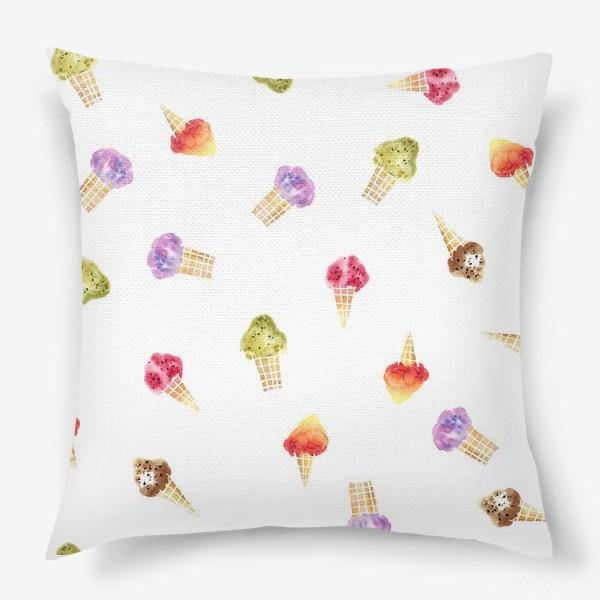 Подушка «Мороженое Акварель 2»