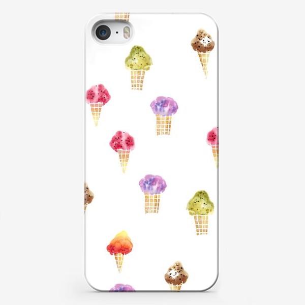 Чехол iPhone «Мороженое Акварель»