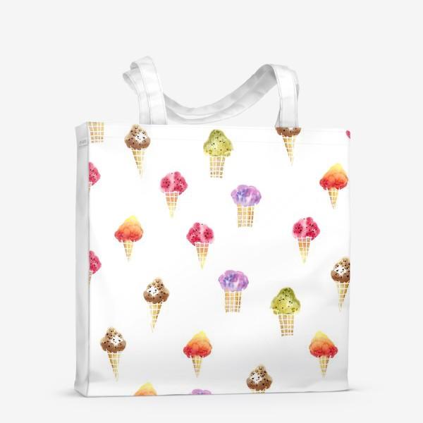Сумка-шоппер «Мороженое Акварель»