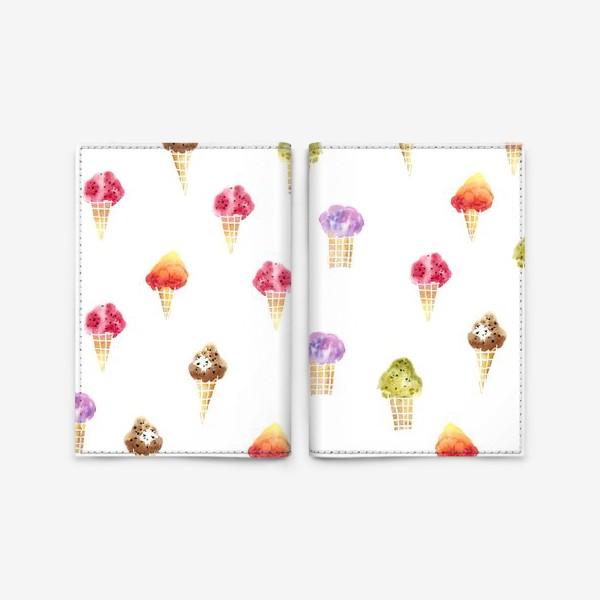 Обложка для паспорта «Мороженое Акварель»