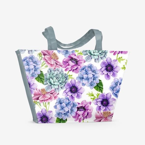 Пляжная сумка «Flower Buds»